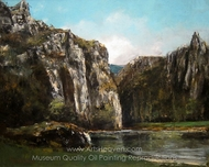 A Gorge in the Jura painting reproduction, Gustave Courbet