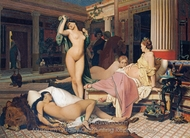 A Greek Interior (The Gynaeceum) painting reproduction, Jean-Leon Gerome