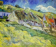 A Group of Cottages painting reproduction, Vincent Van Gogh