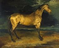 A Horse Frightened by Lightning painting reproduction, Theodore Gericault