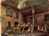 A House in Cairo painting reproduction, John Frederick Lewis