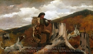 A Huntsman and Dogs painting reproduction, Winslow Homer