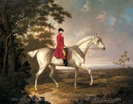A Huntsman on a Grey Hunter in an Extensive Landscape painting reproduction, Charles Towne