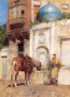 A Labour painting reproduction, Alberto Pasini