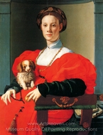 A Lady with a Dog painting reproduction, Agnolo Bronzino