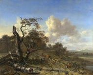 A Landscape with a Dead Tree painting reproduction, Jan Wijnants