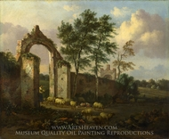 A Landscape with a Ruined Archway painting reproduction, Jan Wijnants