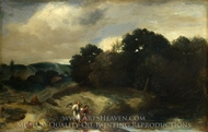 A Landscape with Tobias and the Angel painting reproduction, Jan Lievens
