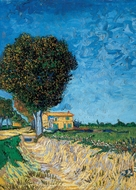 A Lane near Arles (Side of a Country Lane) painting reproduction, Vincent Van Gogh