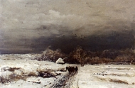 A Late Afternoon in Winter painting reproduction, Louis Apol