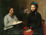 A Leitura painting reproduction, Henri Fantin-Latour