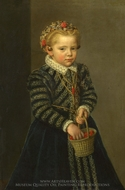 A Little Girl with a Basket of Cherries painting reproduction, Netherlandish Painter