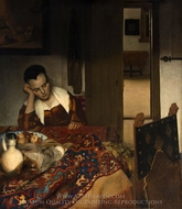 A Maid Asleep painting reproduction, Jan Vermeer