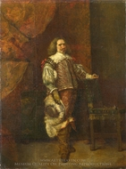 A Man in 17th-Century Spanish Costume painting reproduction, Ignacio De Leon Y Escosura
