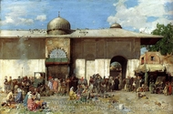 A Market Scene painting reproduction, Alberto Pasini