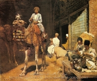 A Marketplace in Ispahan painting reproduction, Edwin Lord Weeks