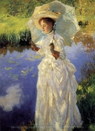 A Morning Walk painting reproduction, John Singer Sargent