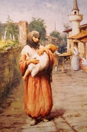 A Mother painting reproduction, Fausto Zonaro