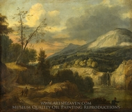 A Mountainous Landscape painting reproduction, Roelant Roghman