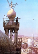 A Muezzin Calling from the Top of a Minaret painting reproduction, Jean-Leon Gerome