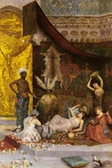 A Musical Interlude in the Harem painting reproduction, Fabio Fabbi
