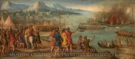 A Naval Battle painting reproduction, Italian Painter