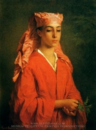 A North African Ellah painting reproduction, Henriette Browne