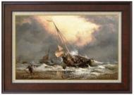A North Sea Breeze on the Dutch Coast painting reproduction, Edward William Cooke