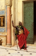 A Nubian Guard painting reproduction, Ludwig Deutsch
