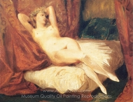 A Nude Woman on Divan painting reproduction, Eugene Delacroix
