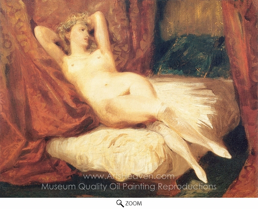 Eugene Delacroix, A Nude Woman on Divan oil painting reproduction