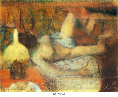 Edgar Degas, A Nude Woman Washing oil painting reproduction