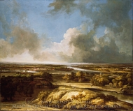 A Panoramic Landscape painting reproduction, Philips Koninck