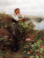 A Pensive Moment painting reproduction, Daniel Ridgway Knight