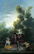 A Picnic painting reproduction, Francisco De Goya
