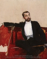 A Portrait of John Singer Sargent painting reproduction, Giovanni Boldini