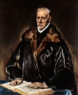 A Prelate painting reproduction, El Greco