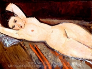 A Reclining Nude painting reproduction, Amedeo Modigliani