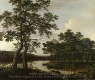 A River Landscape painting reproduction, Joris Van Der Haagen