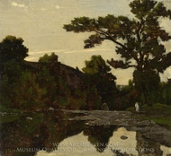 A River Scene painting reproduction, Henri-Joseph Harpignies