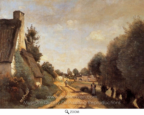 Jean-Baptiste Camille Corot, A Road Near Arras oil painting reproduction
