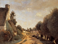 A Road near Arras painting reproduction, Jean-Baptiste Camille Corot