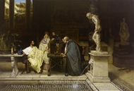 A Roman Art Lover painting reproduction, Sir Lawrence Alma-Tadema