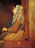 A Roman Beggar Woman painting reproduction, Edgar Degas