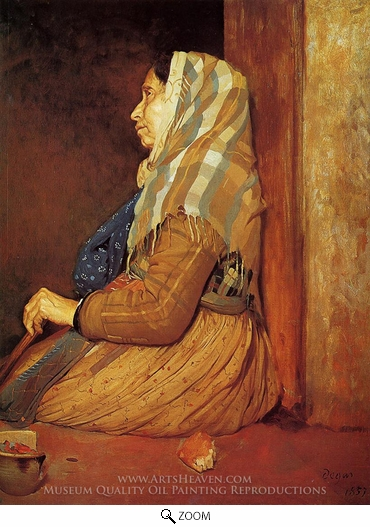 Edgar Degas, A Roman Beggar Woman oil painting reproduction