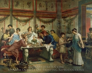 A Roman Feast painting reproduction, Roberto Bompiani