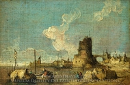 A Ruin Caprice painting reproduction, Francesco Guardi