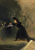 A Scene from the Forcibly Bewitched painting reproduction, Francisco De Goya