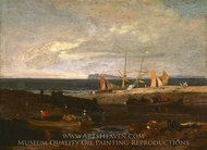 A Scene on the English Coast painting reproduction, J.M.W. Turner