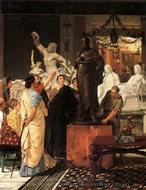 A Sculpture Gallery painting reproduction, Sir Lawrence Alma-Tadema